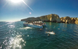 Catamaran Caves and Cliffs Cruise to Benagil: From Albufeira