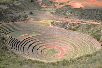 Aerial view of Moray in Peru