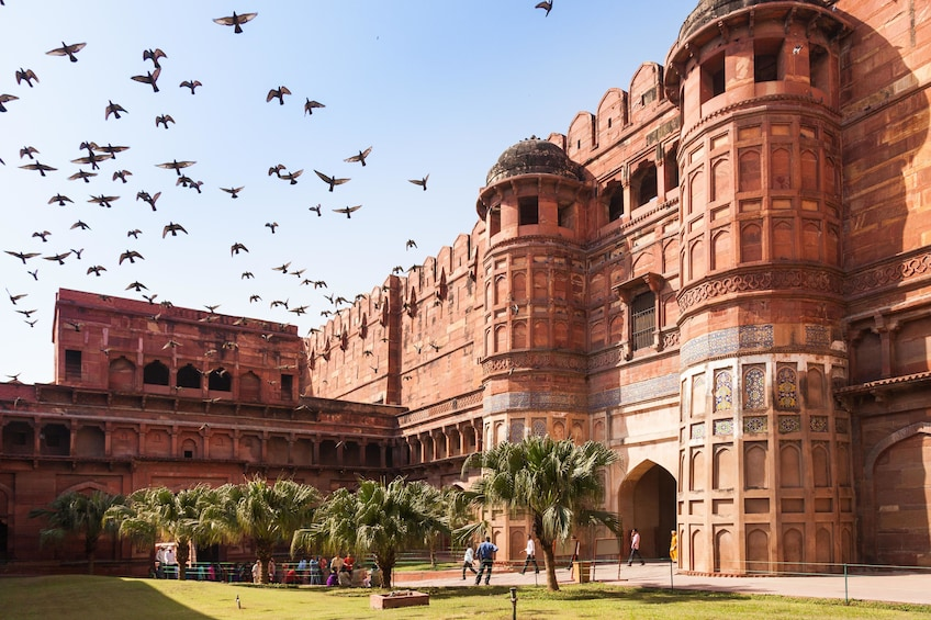 Show item 2 of 2. Exterior of Agra Fort in Agra, India