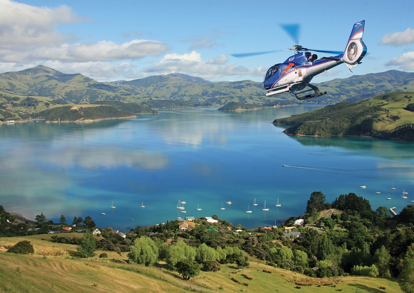 Akaroa Helicopter Flight from Christchurch