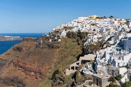 Imerovigli village coastline on Santorini