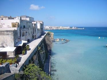 Water and coastal buildings in Otranto, Italy