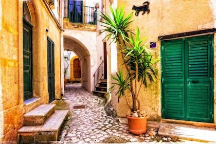 Colorful alleyway in Otranto, Italy