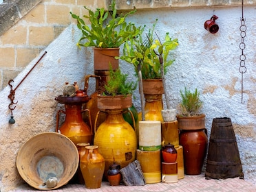 Colorful clay pots in Italy
