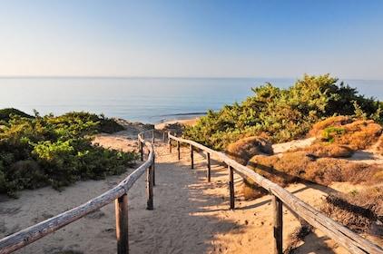 Path down to Salento Coast beach