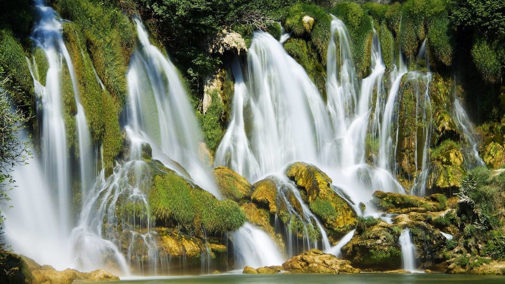 Show item 5 of 5. Close views of the waterfalls at Krka National Park