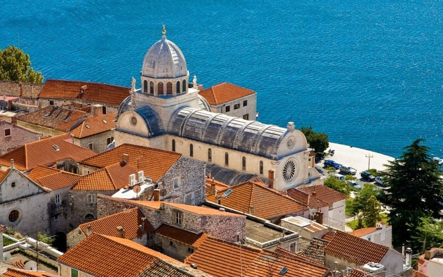 Show item 3 of 5. Aerial day view of ?ibenik Cathedral