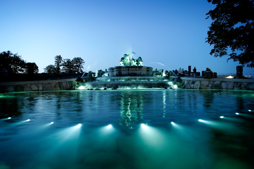 Show item 4 of 10. Gefion Fountain lit up at night