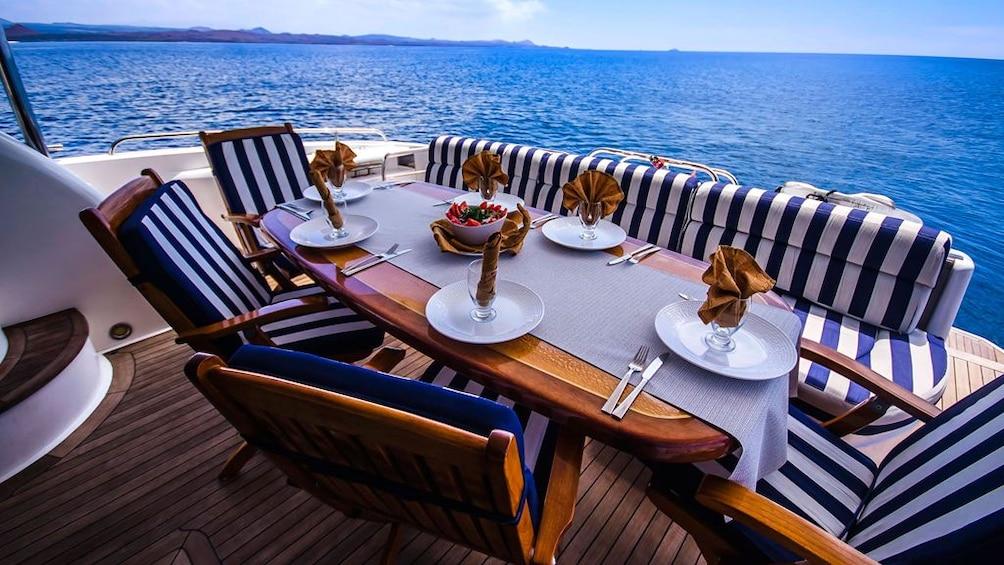 Show item 3 of 5. Galapagos Boat Tour: Santa Fe + South Plazas Islands