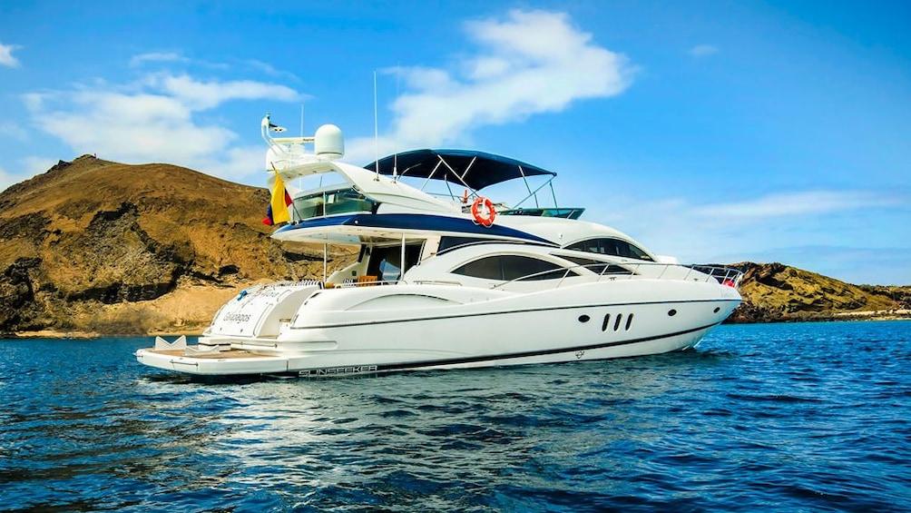 Show item 5 of 5. Galapagos Boat Tour: Santa Fe + South Plazas Islands