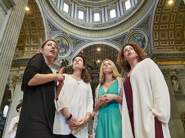 Group of women on a tour of the Vatican
