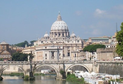 View of St. Peter's Basilica from the River Tiber