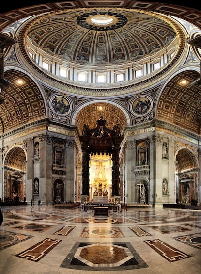 Show item 5 of 10. Interior of St. Peter's Basilica under the dome