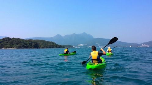 Group Kayaking on Hong Kong Geopark