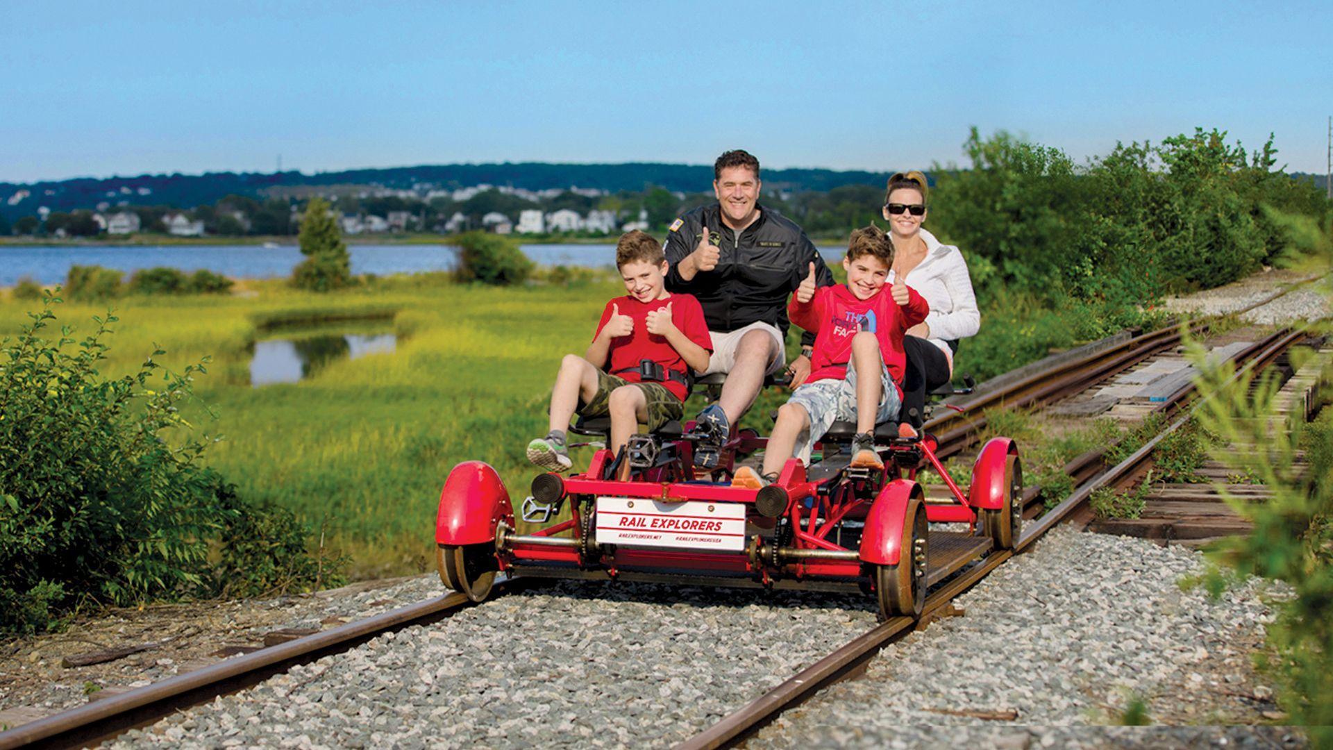 Northern Ramble Railbike ride in Rhode Island