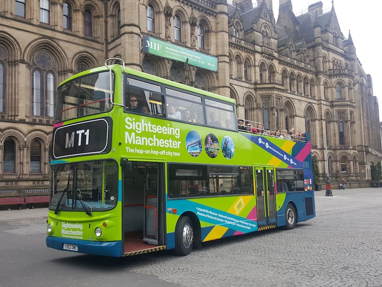 Show item 1 of 5. Sightseeing Manchester - hop on, hop-off bus tour