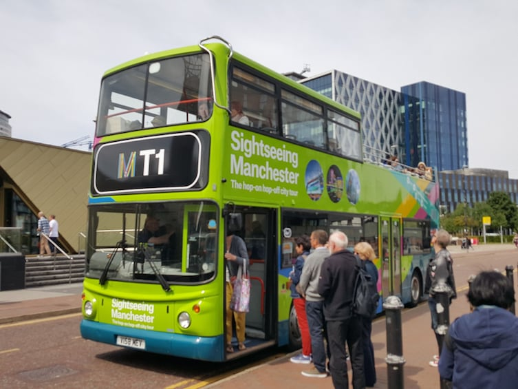 Show item 3 of 5. Sightseeing Manchester - hop on, hop-off bus tour