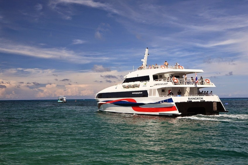 Show item 1 of 7. Lomprayah catamaran on the water in Thailand