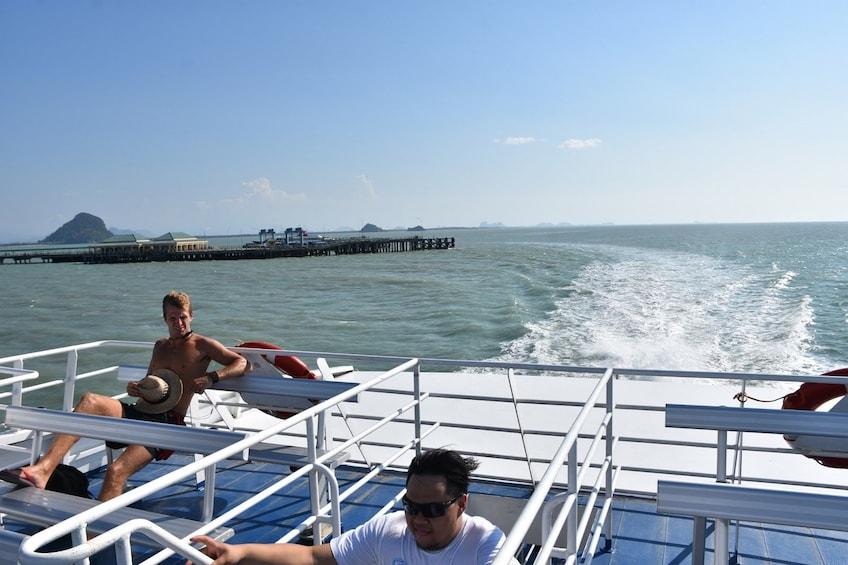 Show item 2 of 7. View off back of Lomprayah catamaran in Thailand