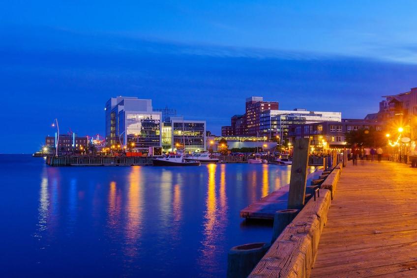 Halifax waterfront at night