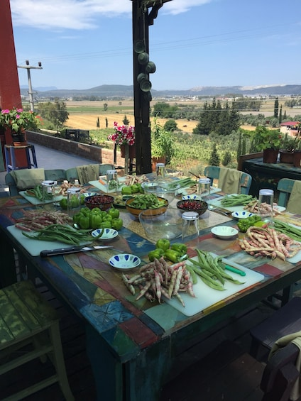 Show item 4 of 5. Milas Market Visit and Cooking Class at Country home