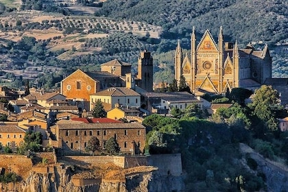 Aerial view of Orvieto on a sunny day