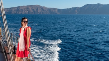 Caldera & Oia sunset cruise with King Thiras boat