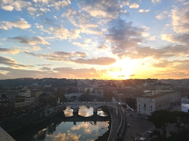Sunset view from top of Castel Sant'Angelo