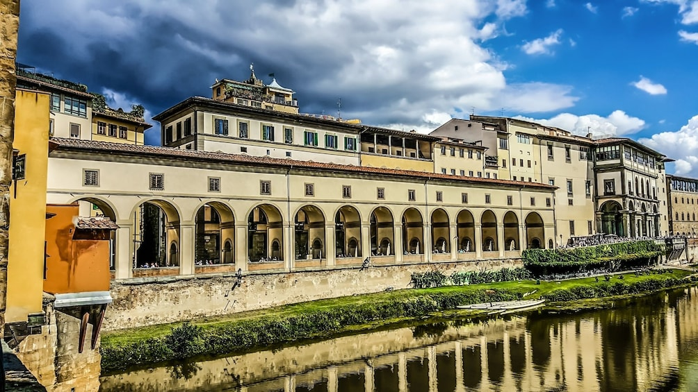 Show item 5 of 10. Uffizi Gallery reflects on the River Arno