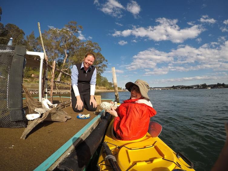 Show item 2 of 4. Oyster Tasting Kayak Tour
