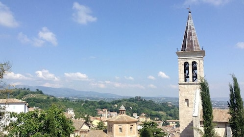 Steeple in Italy on a sunny day