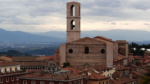Stone buildings and towers of Perugia