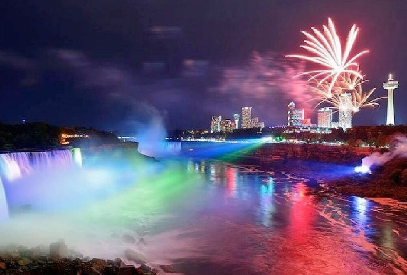 Show item 10 of 10. Niagara Falls Day and Night Tour with Boat Ride from Toronto