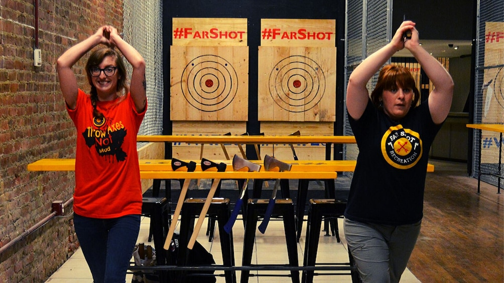 Show item 3 of 2. Axe Throwing in Syracuse