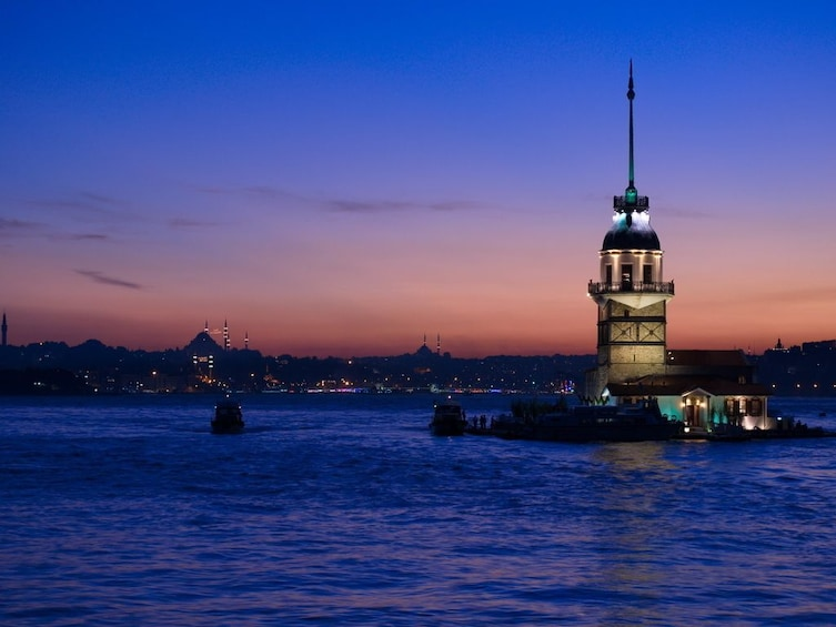 Show item 4 of 6. A Cruise on the Bosphorus in the Night with Traditional Show
