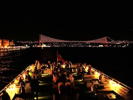 A Cruise on Bosphorus in the Night with Traditional Show