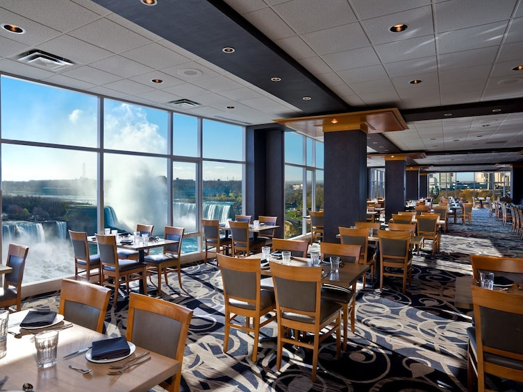 Show item 5 of 10. Restaurant dining room with view of Niagara Falls