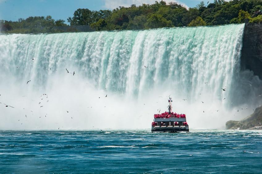 Show item 1 of 10. Boat sailing towards Niagara Falls