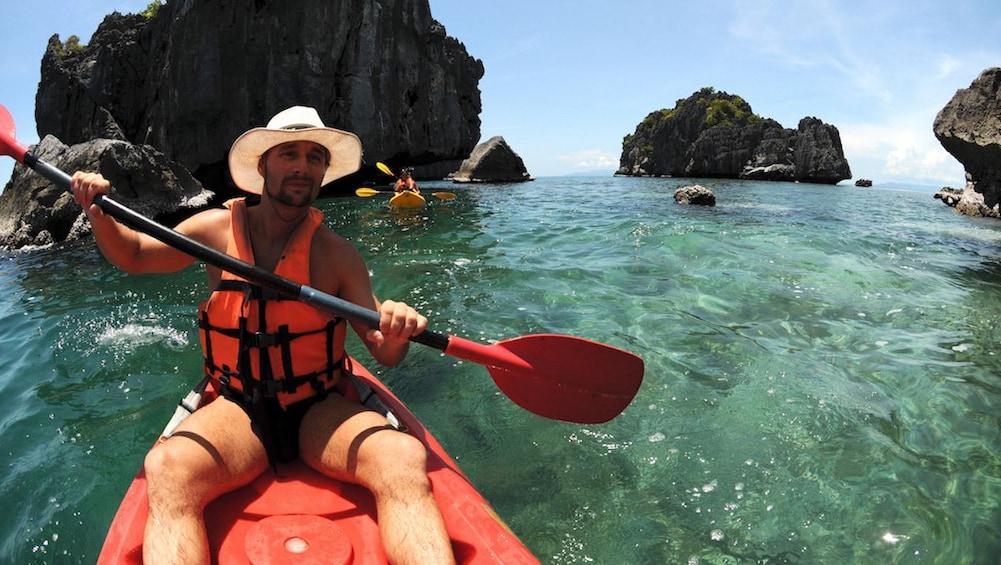 Man Sea Kayaking at Angthong National Marine Park