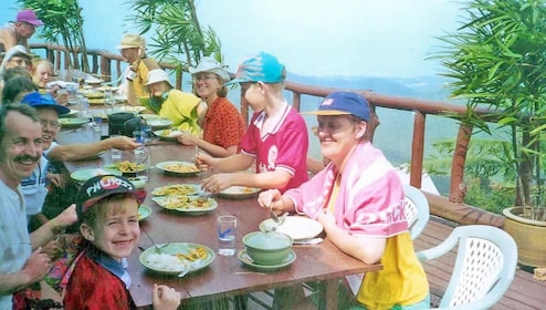 Lunch at a mountain top restaurant in Ko Samui