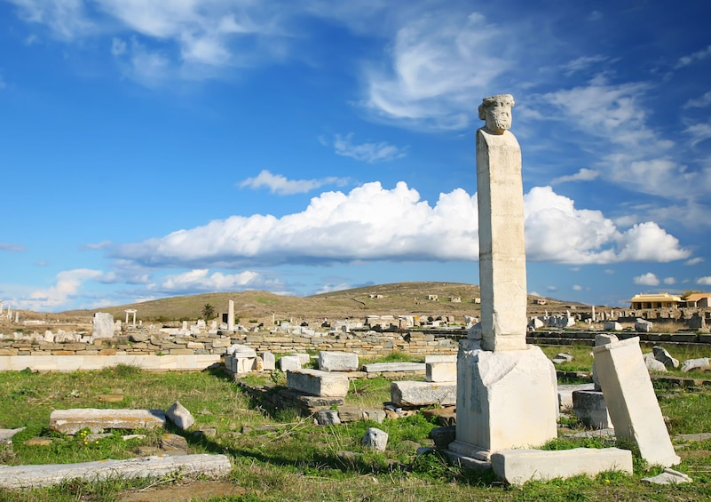 Show item 3 of 6. Ruins of Delos and island