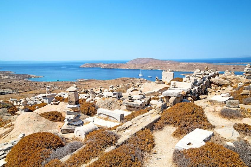 Island in Delos, Greece
