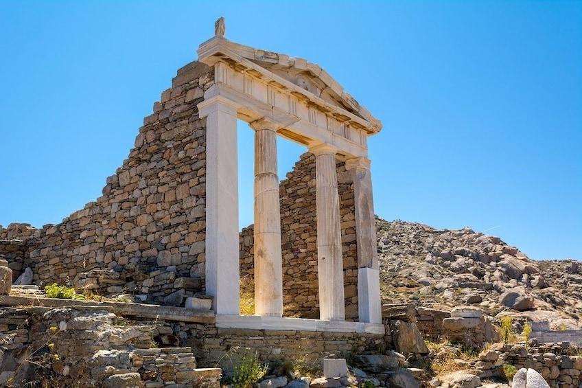 Delos island ruins
