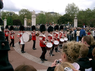 Marching band at the Changing of the Guards at Buckingham Palace in London