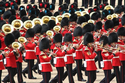 Marching band at Changing of the Guards at Buckingham Palace in London