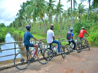 Biking tour group in Unawatuna