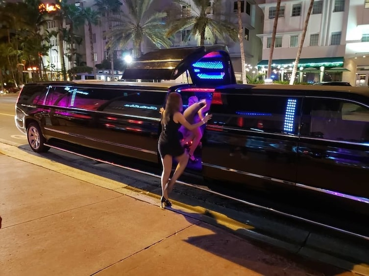 Show item 1 of 9. 6 hours Party in Miami Open Bar Limousine With Club Entry