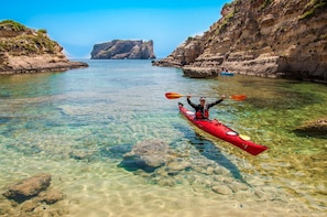 Sea kayaking in the Navarino Bay