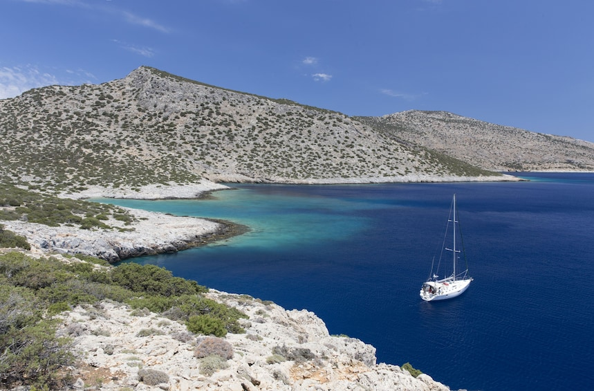 Show item 5 of 10. Semi-private day sailing tour to the small cyclades
