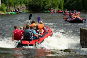 Rafting in Cesky Krumlov, for 4-7 people (from Prague)